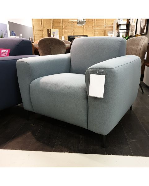 Fauteuil Stof Lichtblauw