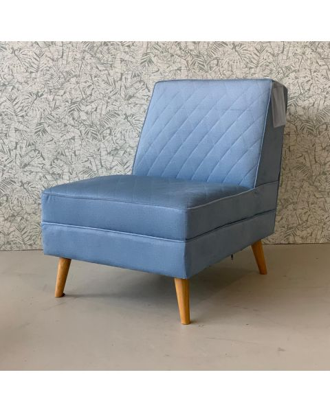 Lazy M Fauteuil Stof Blauw | Woonoutlet