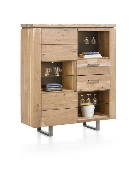 Ajezi Highboard 2 deuren + 2 laden + 6 niches ( + Led)