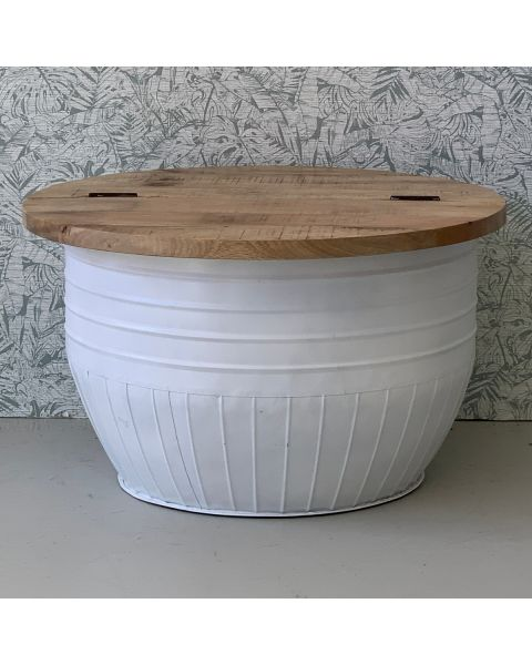 bowl salontafel wit